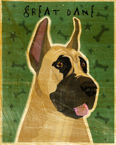 Great,Dane,-,Fawn,Dog,Art,Print,8,in,x,10,Illustration,whimsical,cute,animals,dog_art,pet,puppy,Great_Dane,Great_Dane_Art,Dog_Print,paper,ink