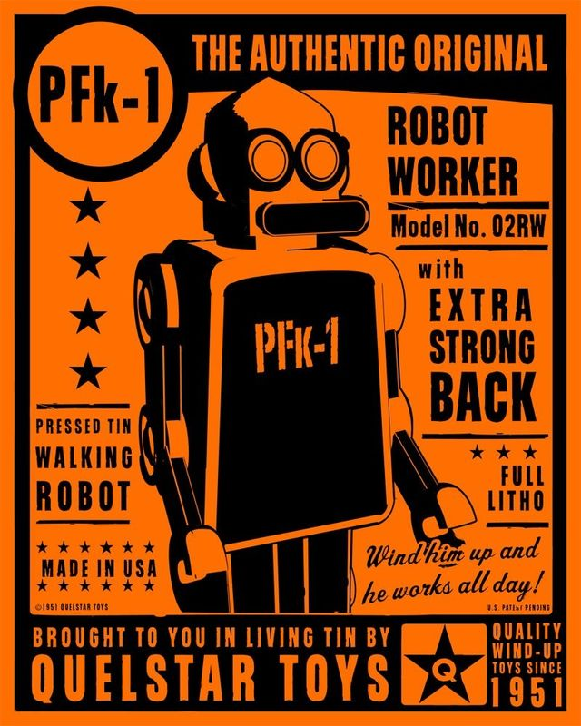 PFk-1 Tin Toy Robot Box Art Print - product images