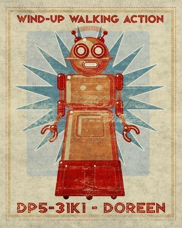 Doreen Box Art Robot Print 8 in x10 in - product images