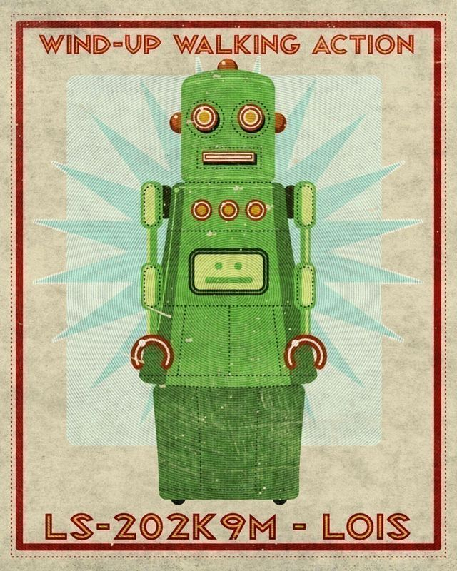 Lois Box Art Robot Print 8 in x 10 in - product images  of