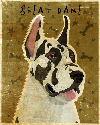 Great,Dane,Number,3,-,Harlequin,Dog,Art,Print,8,in,x,10,Illustration,whimsical,cute,animals,dog_art,pet,puppy,Great_Dane,Great_Dane_Art,Dog_Print,harlequin,paper,ink