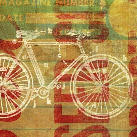 Cycles,per,Second,Print,Art,Illustration,painting,mixed_media,altered,vintage,johnwgolden,bicycle,bicycle_decor,paper,camera