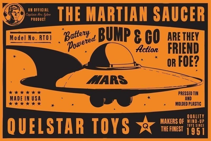 Martian Saucer Box Art Print 8 in x 12 in - product images