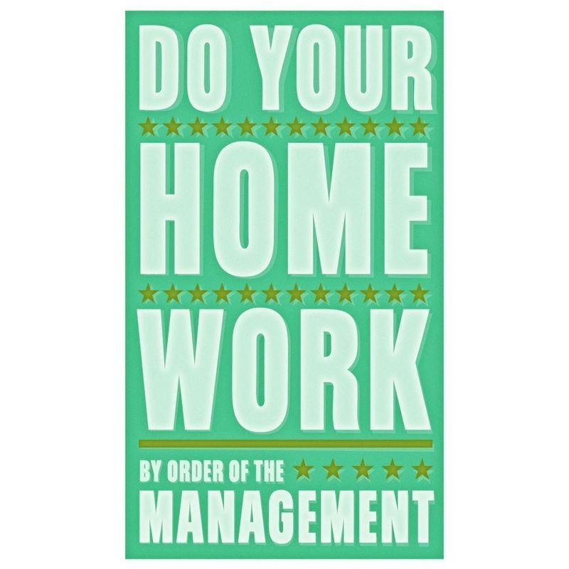 Do Your Homework Print 6 in x 10 in - product images  of