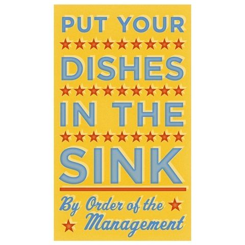 Put,Your,Dishes,in,the,Sink,Print,6,x,10,Art,Illustration,illustration,print,digital,parental,john_w_golden,toddler,dishes,children,kids,kitchen,paper,computer