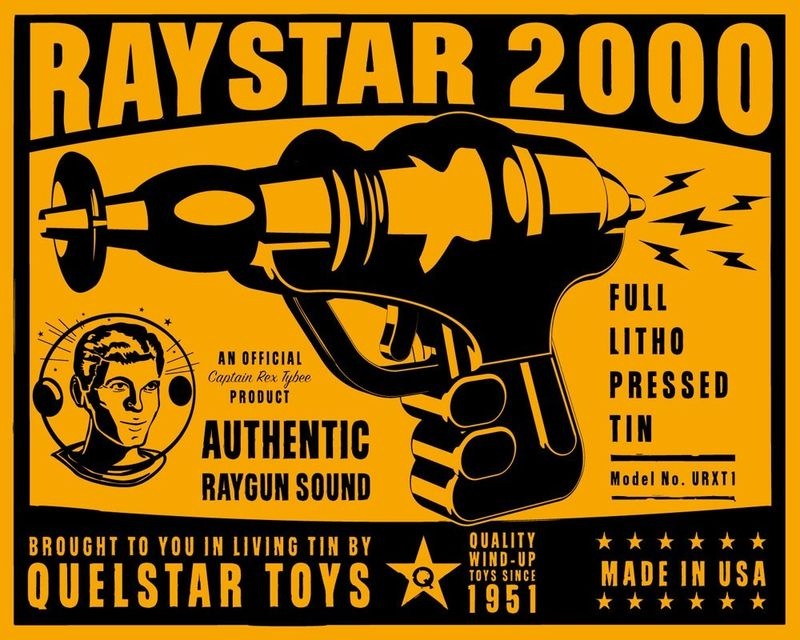 Raystar 2000 Tin Toy Robot Box Art Print - product images