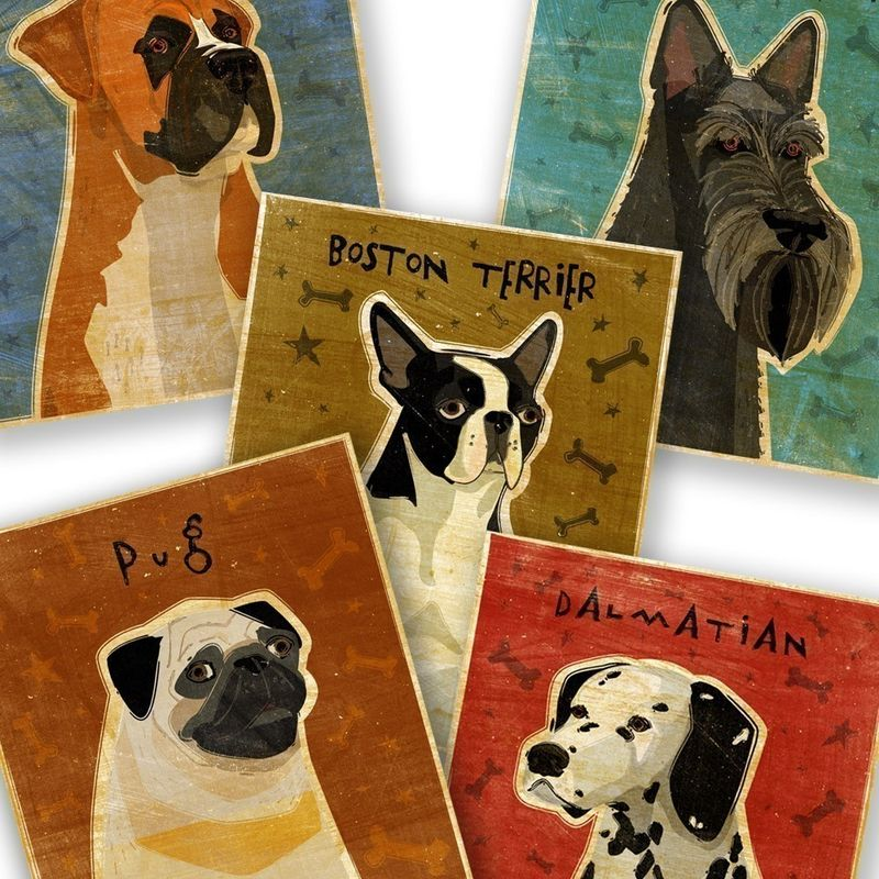 Dog Print - Pick Your Pooch Dog Art Print - product images  of