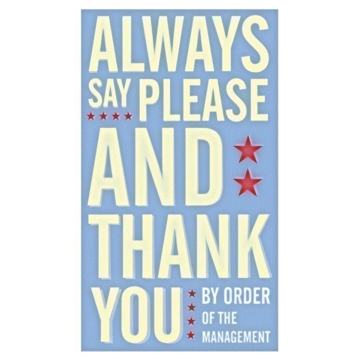 Always Say Please and Thank You Print - product images