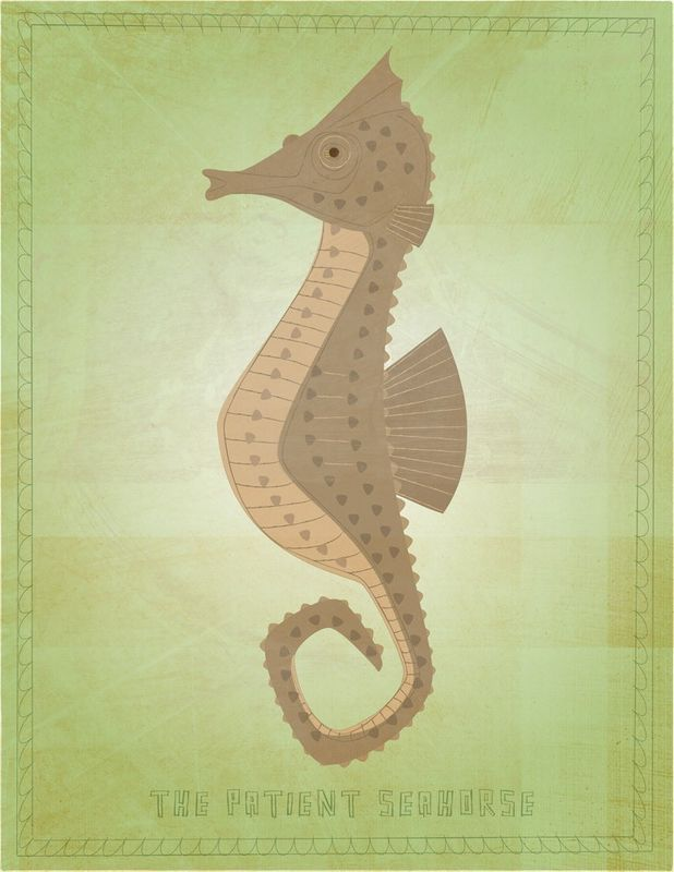 The Patient Seahorse Print - product images  of