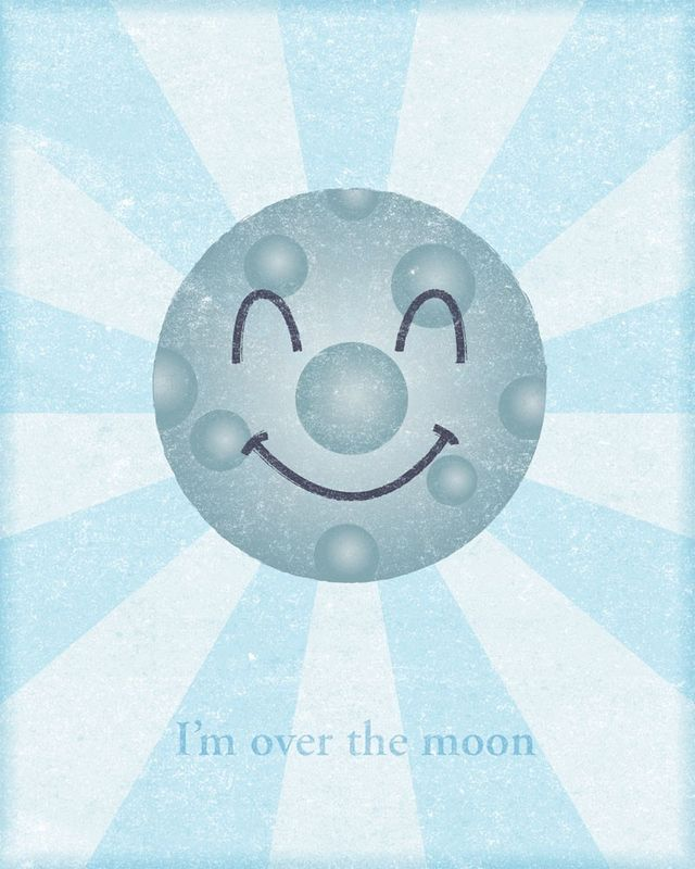I'm Over the Moon Print - product images