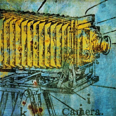 Camera,Collage,No.1,Art,Print,Digital,vintage,bird,johnwgolden,animal,print,camera,paper