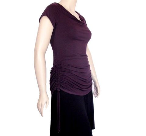 The,Drawstring,Ruched,Cowl,Neck,Shirt,cowl neck shirt,drape neck shirt,ruched shirt,plus size shirt,custom womens shirt,petite custom,kobieta, ,bustle shirt, gathered shirt,womens ruched shirt,bamboo