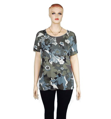The,Kobieta,Scoop,Neck,Shirt,or,Tunic,In,Choice,of,Prints,bamboo jersey,scoop neck shirt,scoop neck tee,petite shirt,plus size shirt,plus size tee, plus size tunic, scoop neck tunic