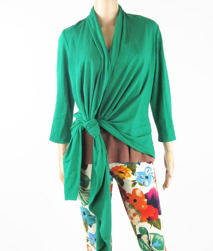 Bamboo Clothing Companies House: Lush Green Waterfall Cardigan
