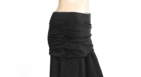 The,Kobieta,Ruched,Yoga,Skirt-,Smoke,Grey,Bamboo/Organic,Cotton,Blend-,Ready,to,Ship-,Size,S/M,yoga skirt, handmade yoga skirt, organic yoga skirt, hand-dyed yoga skirt, yoga fashion, yoga clothes, ruched yoga skirt, gathered yoga skirt