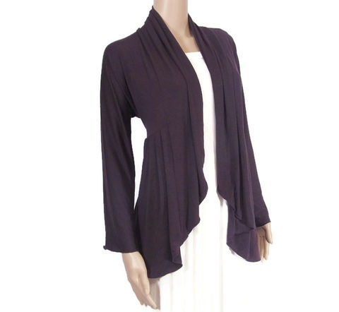 The,Kobieta,Poets,Cardigan-READY,TO,SHIP,in,Serenity,Blue,or,Olive,Sand,-Sizes,L/XL,pocketed cardigan, cardigan with pockets,  womens cardigan,bamboo cardigan,kobieta,bamboo wrap,stretch knit wrap,custom size, short sleeve cardigan,cardigan pockets, bamboo