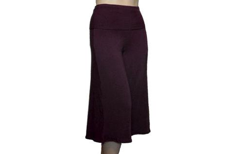 Skirted Gauchos Wide Leg Cropped Pants - Kobieta Clothing Company