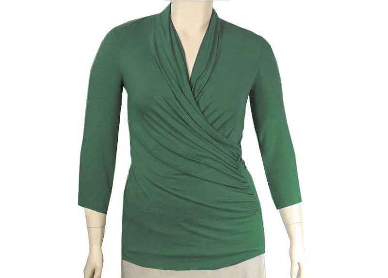 The kobieta draping wrap shirt kobieta clothing company for Made to measure dress shirts
