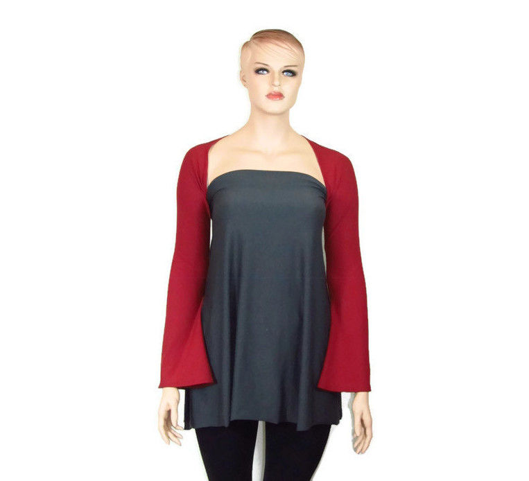 Bamboo Clothing Companies House: The Kobieta Ballet Arms Yoga Shrug