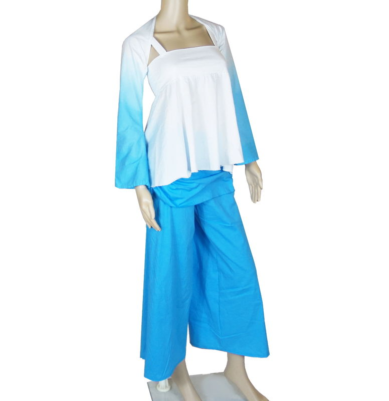Bamboo Clothing Companies House: Organic Cotton&Bamboo Jersey Gradient Dyed Yoga Shrug