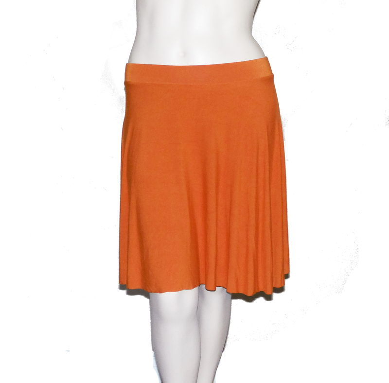 Bamboo Clothing Companies House: Kobieta Bamboo Jersey Half Circle Skirt In Hand Dyed