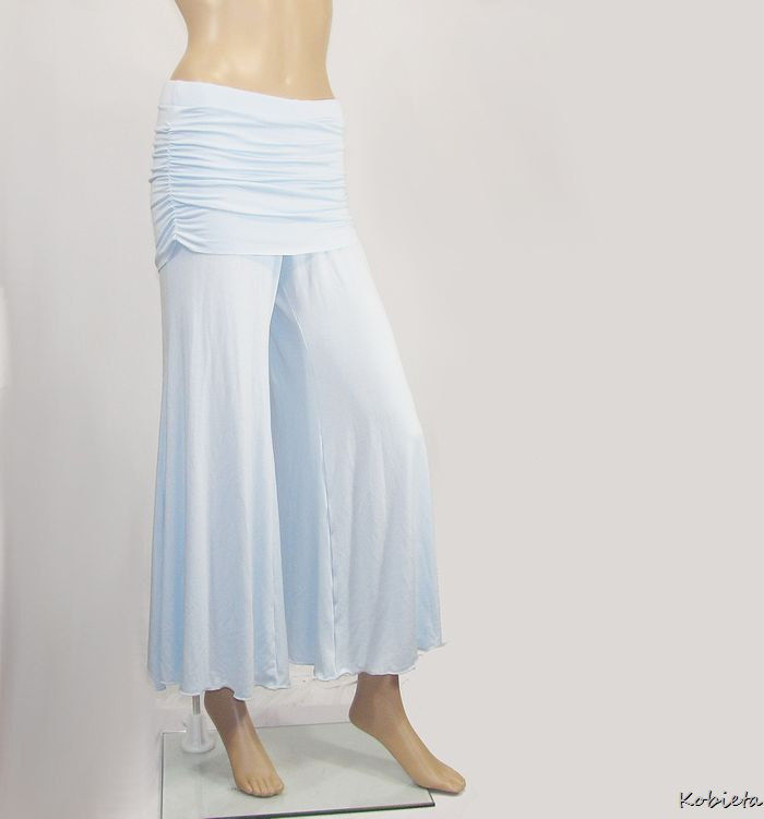 Skirted Gauchos Wide Leg Cropped Pants