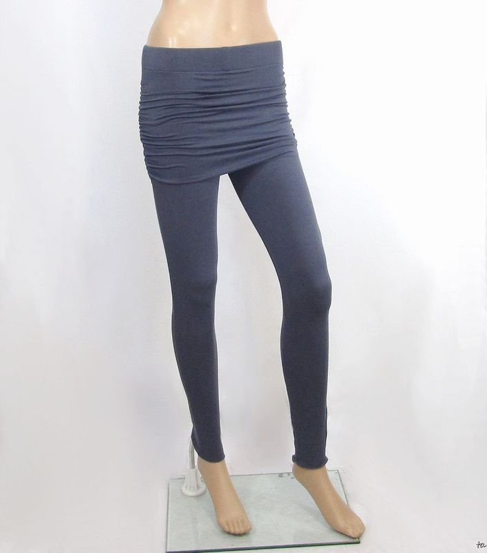 Bamboo Clothing Companies House: Ruched Yoga Skirt To Create Skirted Yoga Pants