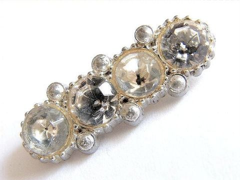 Small,Vintage,Glam,Sparkle,Bar,Brooch,,Pot,Metal,With,Clear,Rhinestones,Jewelry,Brooch,pin,bar,slivered,crystal,rhinestones,sparkle,white,silver,glam,holiday_jewelry,pot_metal,1940,neoclassical