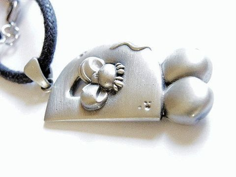 Polished,Pewter,Vintage,Necklace,,Detailed,Mouse,Pendant,,Woven,Cord,Jewelry,Necklace,pewter,mouse,pendant,letter_d,tail_and_paws,vintage_necklace,house_mouse,mouse_pendant,pewter_necklace,animal,black_cord,rodents,polished,black cord, whimsical