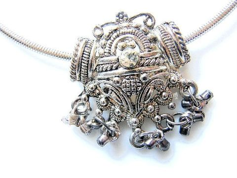Vintage,Glam,Necklace,,Rhinestone,Sliding,Victorian,Shield,Pendant,Silver-Tone,,Plate,,Jewelry,Necklace,silvertone,silverplate,rhinestone,shield,sliding,pendant,victorian,charms,cord,chain,victorian_necklace,vintage_necklace,glam,silver,tone,plate,metal,rhinestones