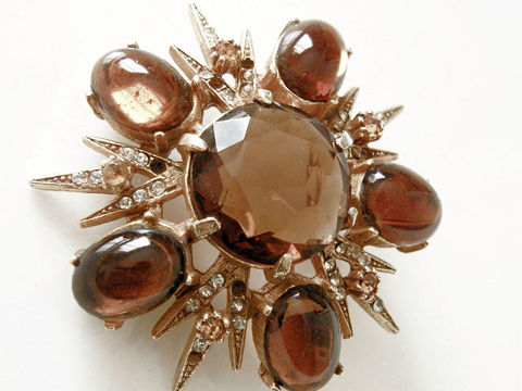 Vintage,Juliana,Brooch,,Pendant,-,Sparkling,Honey,Topaz,,Goldenrod,Rhinestones,vintage brooch, Golden rod, gold plated, honey topaz, prong set, Juliana brooch, rhinestones, pendant brooch, brooch pendant, foil backed, un-foiled, holiday jewelry, star points, autumn fall winter