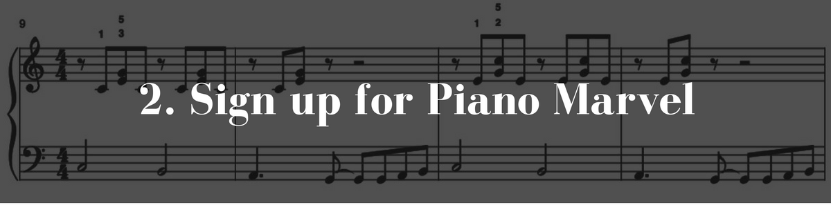 2. Sign up for Piano Marvel