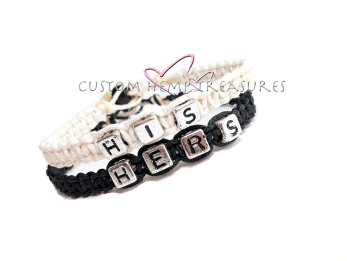 His and Hers Bracelets, Couples Bracelets Boyfriend Gift ...
