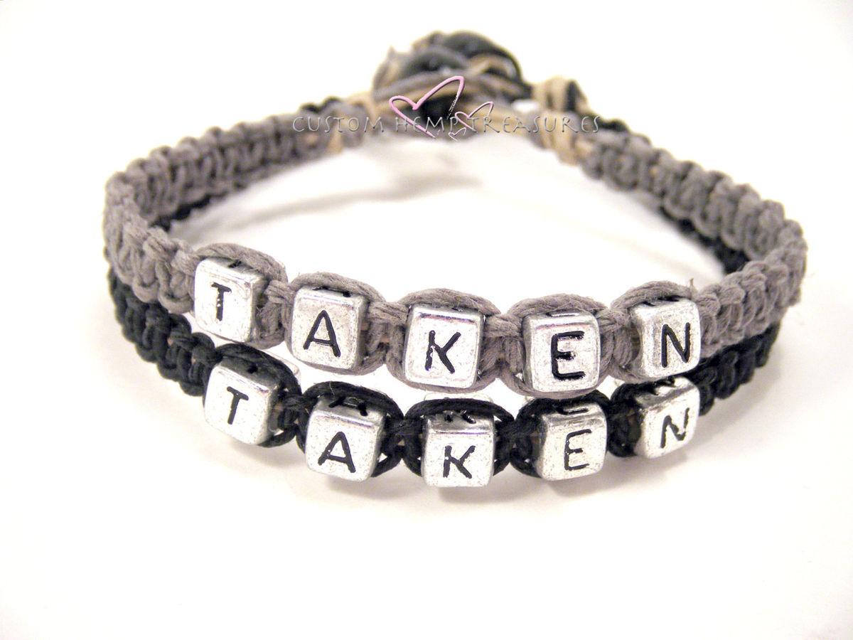 Taken Hemp Bracelets for Couples, Couples Bracelets ...