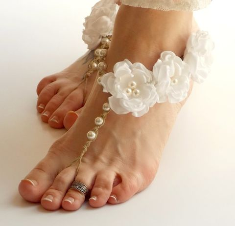 White,Wedding,Barefoot,jewelry,sandals,white-wedding-sandals, wedding-sandals, beach-wedding-sandals, wedding-barefoot-sandals, hemp-barefoot-sandals, barefoot-jewelry, foot-jewelry