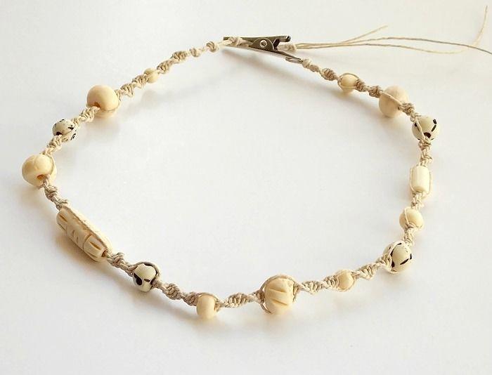 Men S Beach Jewelry Beaded Hemp Chain Bone Mojo S Free Spirit