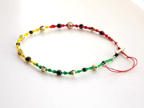 Men's,Hemp,Chain,-,Choker,Festival,Jewelry,Rasta,roach-clip, rasta, 420-festival, hippie-jewelry, hemp, colorado, men-necklace, hemp-chain, hemp-choker, men-jewelry, smoker-clip, marijuana, ganja, smoking-accessories,