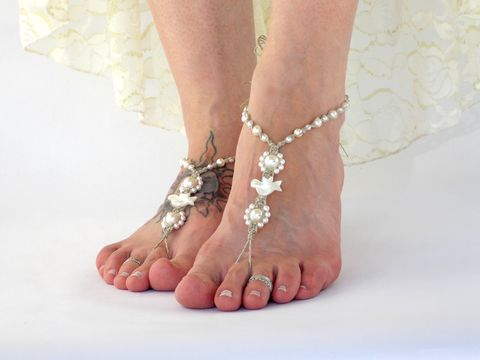 Dove,Wedding,Barefoot,Sandals,barefoot-wedding-sandals, bridal-sandals, dove-wedding, dove, white-dove, ivory-dove, dove-accessoies-for-wedding, dove-sandals, pearl-barefoot-sandals, white-wedding, wedding-ceremony-doves, bride-to-be, love-dove, wedding-shoes, wedding-sand