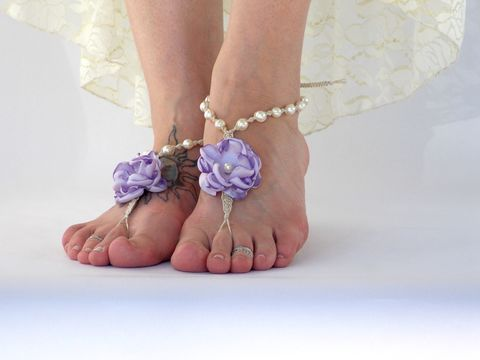Barefoot,Sandals,with,Satin,Flower,and,Ivory,Pearls,-More,Color,Options-,barefoot-sandals, floral-sandals, beach-bride-shoes, beach-vacation, vacation-destination, honeymoon, wedding-reception-shoes, comfortable-dancing-shoes, toe-thong, beach-footwear, barefoot-wedding, barefoot-brides, bridal-sandals, lime-green-sandals, tur