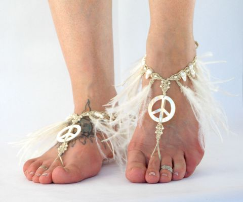 Peace,Feather,Fringe,Tassel,Barefoot,Sandals,peace-sandals, hippie-shoes, peace-sign, free-love, wedding-sandals, barefoot-sandals, barefoot-sandal, gypsy-sandals, destination-barefoot, bohemian-wedding, feather-fringe-trim, fringe-sandals, feather-sandals, feather-feet, beach, bohemian-beach-design