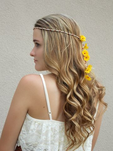 Flower,Child,Daisy,Headband,hippie-headband, flower-child-costume, daisy-headband, festival-head-wear, headband, hemp-headband, yellow-daisy-hair-flowers, flower-crown, floral-crown, hippie-bride-hair, hippie-wedding-veil, bohemian-headband