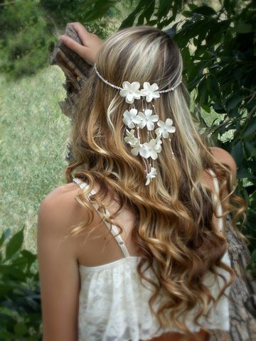 Ivory,Flower,Head,Crown,hair-flowers, headcrown, headpiece, hair-jewelry, flower-crown, floral-headcrown, flower-headband, wedding-hair-flowers, flower-hair-accessories, festival-head-wear, boho-headband, hippie-headband, pink, cream