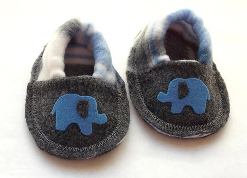 Handmade,Baby,Booties,Blue,Elephant,blue-elephant-baby-booties, baby-shoes, mustache-slippers, mustache, baby-boy, shoes, booties, slippers, crib-shoes, baby-gift, grey, black, soft-sole-baby-shoes