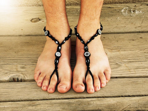 Evil,Eye,Men's,Barefoot,Sandals,in,Black,Hemp,evil-eye, men-sandals, hemp-sandals, bare-sole-shoes, men-barefoot-sandals, men-barefoot, no-sole-shoes, soleless-shoes, barefoot-walking, earthing-shoes