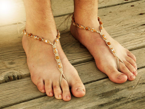 Evil,Eye,Men's,Barefoot,Sandals,in,Brown,Jasper,evil-eye, men-sandals, hemp-sandals, bare-sole-shoes, men-barefoot-sandals, men-barefoot, no-sole-shoes, soleless-shoes, barefoot-walking, earthing-shoes