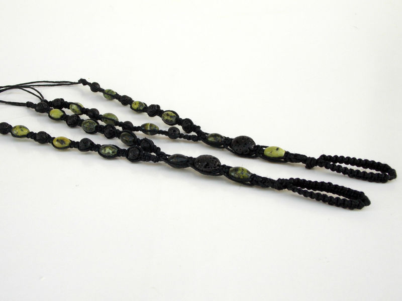 Men Barefoot Sandals in Green Serpentine and Black - product images  of