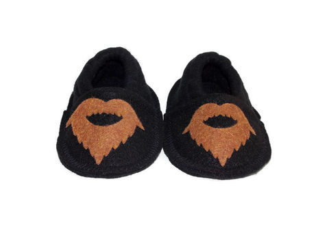 Bearded,Man,Baby,Booties,,Soft,Sole,Crib,Shoes,baby-booties, mini-muffin, handmade-slippers-babies, soft-sole-baby-shoes, crib-shoes, baby-shoes, baby-slippers, valentine-baby-gift, cute-valentine-baby
