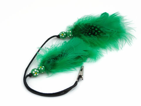 Grass,Roots,Feather,Hair,Roach,Clip,st-pattys-day, st-patricks-day, green, feather-hair-clip, 420-sale, colorado-smoking, weed-accessory, roach-clip, feather-clip, hair-feather, blue, feather-accessory, hair-jewelry, red, black