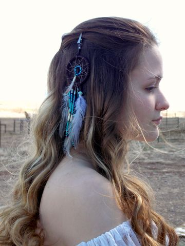 Dream,Catcher,Feather,Hair,Clip,,Blue,Amazonite,dream-catcher-clip, 2-inch-dream-catcher, dream-catcher-charm, dream-catcher-window-charm, dream-catcher-feather-clip, feather-hair-clip, clip-in-feathers, alligator-clip-feathers, healing-crystal-jewelry, dream-cather-accessory, hemp-dream-catcher