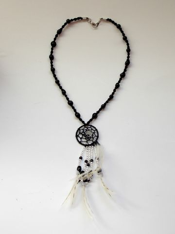 Black,obsidian,dream,catcher,necklace,black-dream-catcher, dream-catcher-necklace, crystal-dream-catcher, dreamcatcher, dream-catcher-jewelry, bohemian-dream-catcher, gypsy-dream-catcher, hemp-dream-catcher, hemp-necklace, hemp-jewelry
